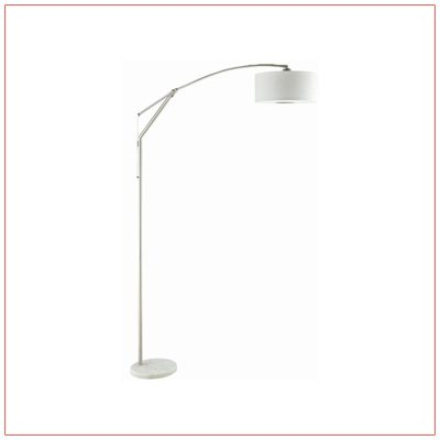Arch Floor Lamps - White - LV Exhibit Rentals in Las Vegas