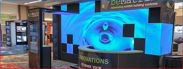 BeMatrix LEDskin Rentals - Custom Configuration - LV Exhibit Rentals in Las Vegas