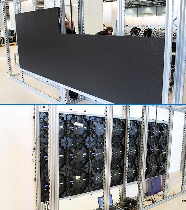BeMatrix LEDskin Rentals Install - LV Exhibit Rentals in Las Vegas