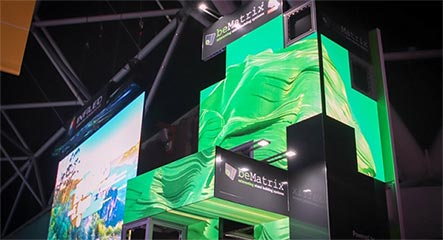 BeMatrix LEDskin Rentals Seamless Integration - LV Exhibit Rentals in Las Vegas