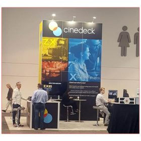 Cinedeck - NAB 2019 - 20x20 Trade Show Booth Rental Package 406 - LV Exhibit Rentals in Las Vegas