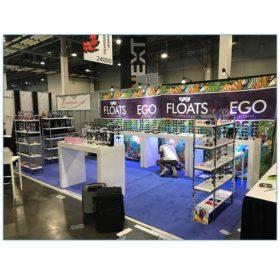 Gilbert Shelves - White - Vision Expo - LV Exhibit Rentals in Las Vegas