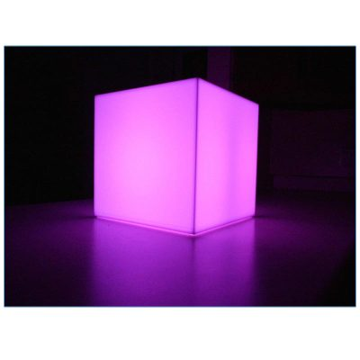 Glow LED 12in Cube - LV Exhibit Rentals in Las Vegas