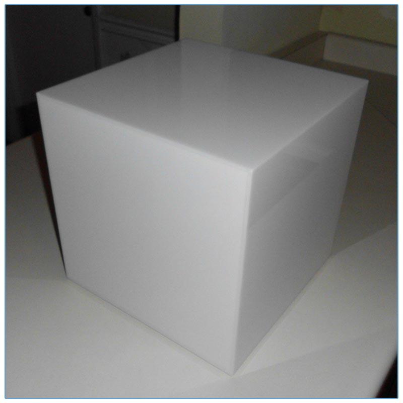 Glow LED 12in Cube - Off - LV Exhibit Rentals in Las Vegas