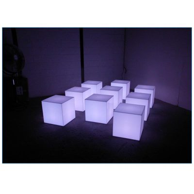 Glow LED 18in Cube - LV Exhibit Rentals in Las Vegas