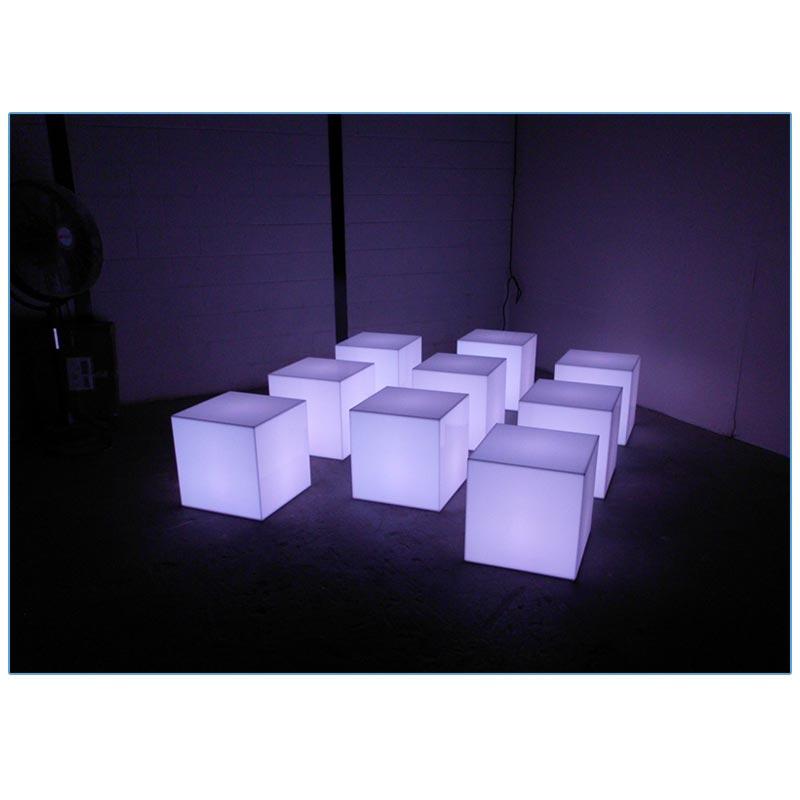 Glow LED 18in Cube - LV Exhibit Rentals in Las Vegas