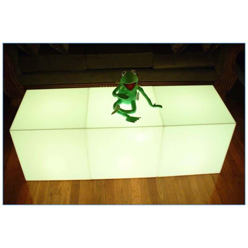 Glow LED 18in Cube - Side by Side - LV Exhibit Rentals in Las Vegas