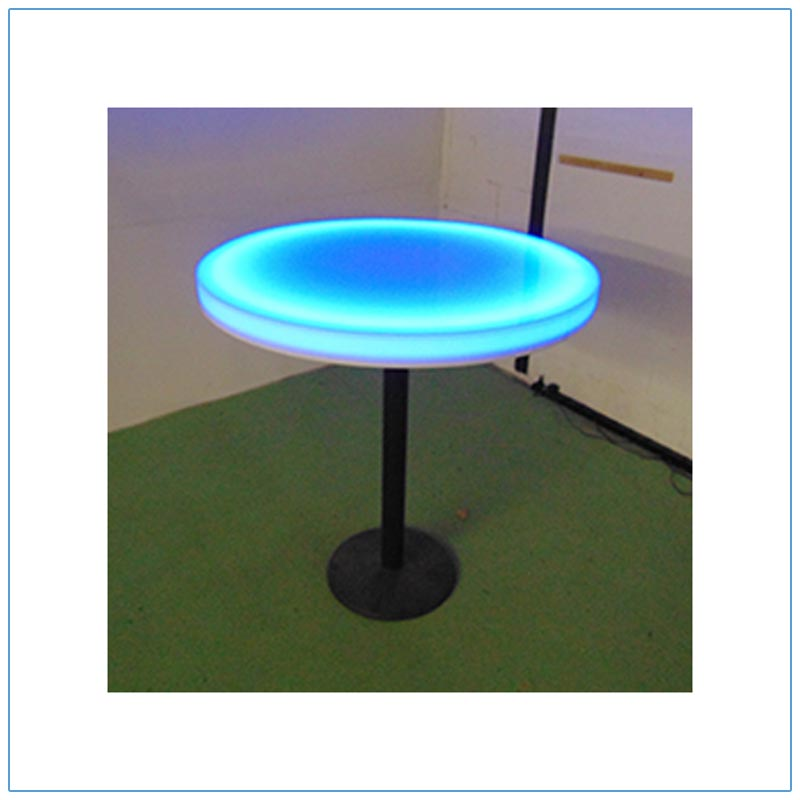 Glow LED 30in Round Cafe Table - LV Exhibit Rentals in Las Vegas