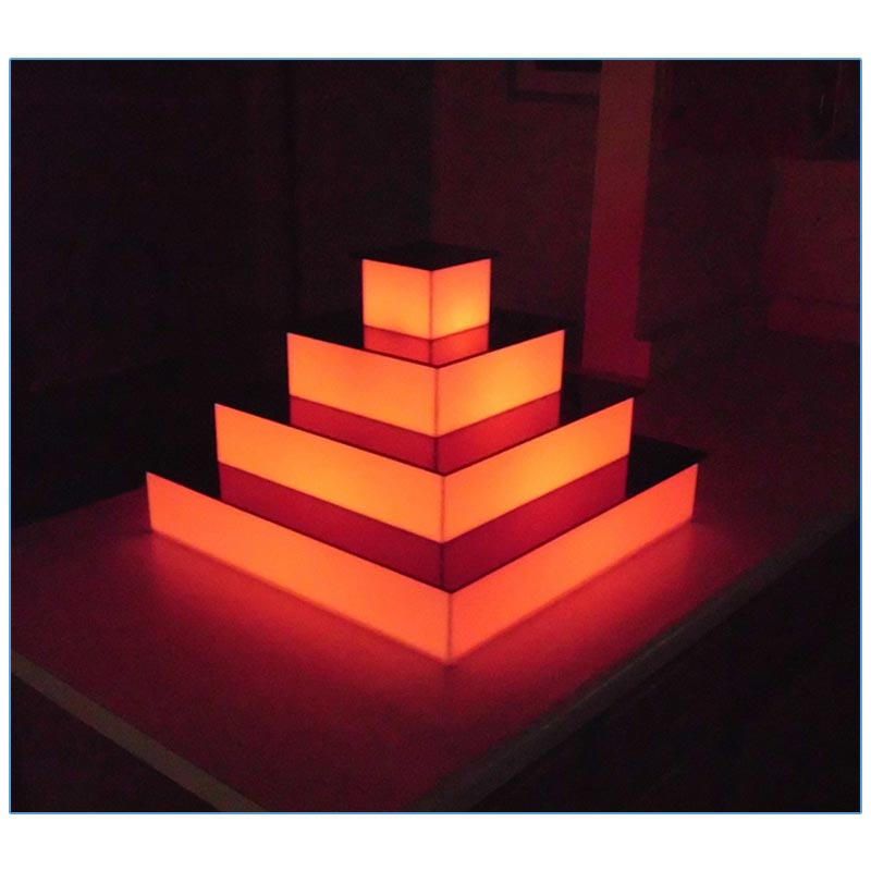 Glow LED 4-Tier Riser - LV Exhibit Rentals in Las Vegas