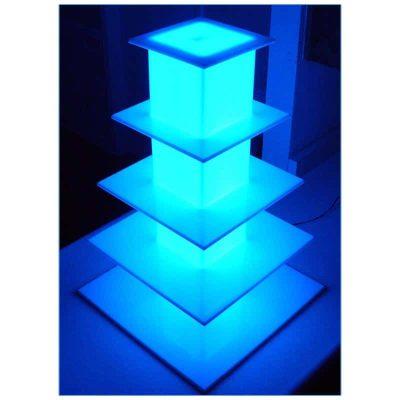 Glow LED 5-Level Tower - LV Exhibit Rentals in Las Vegas