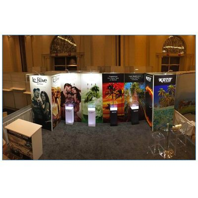 Glow LED Plexi Display Column - LV Exhibit Rentals in Las Vegas