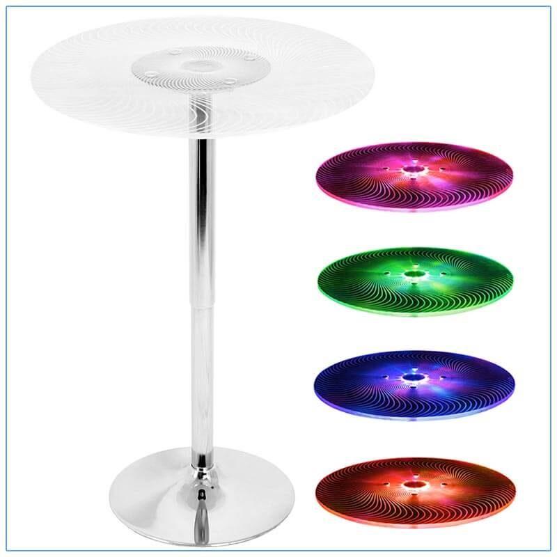 Glow LED Spiral Bar Tables - LV Exhibit Rentals in Las Vegas