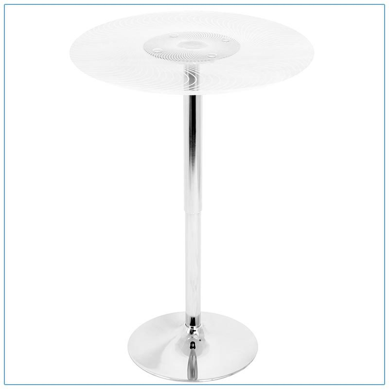 Glow LED Spiral Bar Tables - Off - LV Exhibit Rentals in Las Vegas