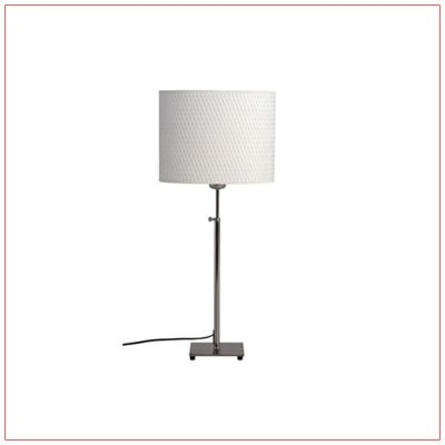 Lang Adjustable Table Lamps - White - LV Exhibit Rentals in Las Vegas