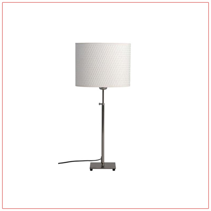 Lang Adjustable Table Lamps - White - LV Exhibit Rentals in Las Vegas