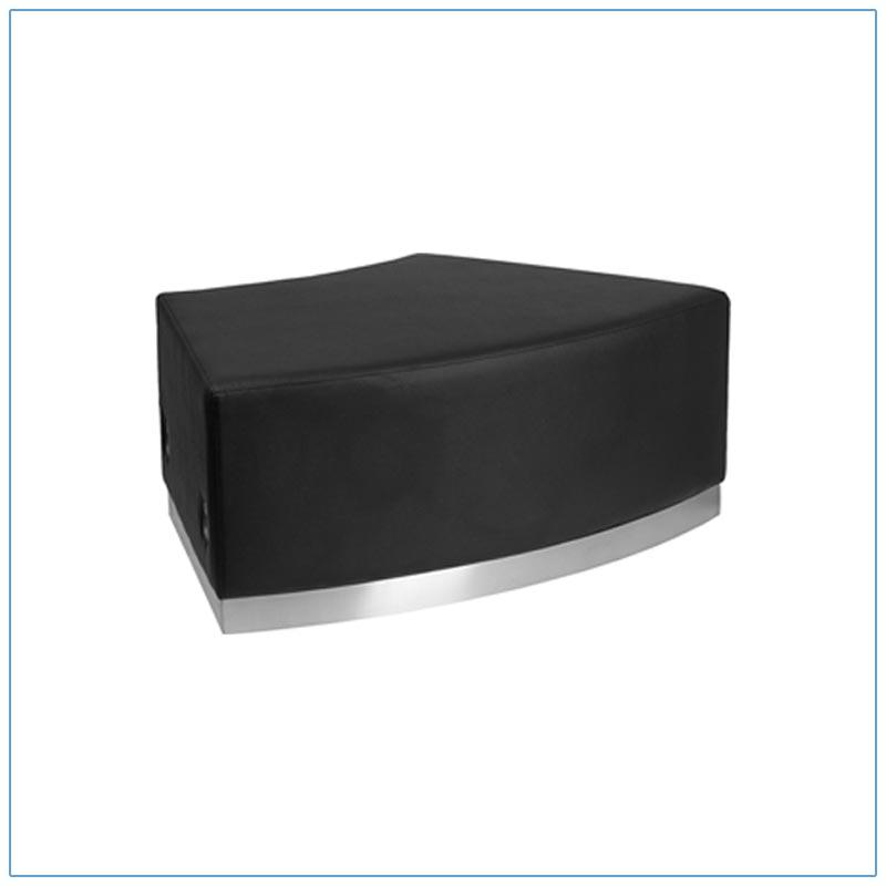 Melrose Convex Bench - Black - LV Exhibit Rentals in Las Vegas