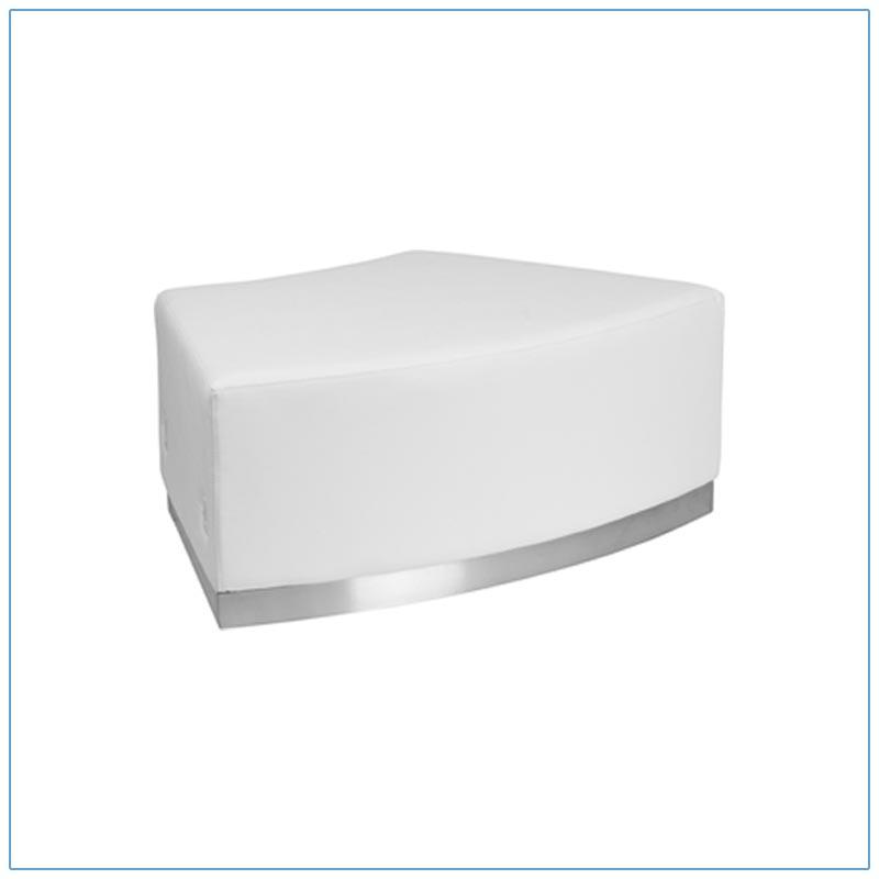 Melrose Convex Bench - White - LV Exhibit Rentals in Las Vegas