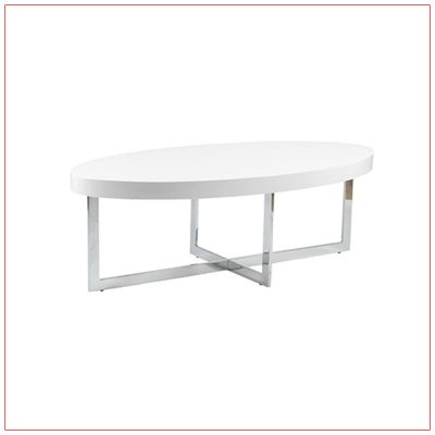Oliver Cocktail Tables - White - LV Exhibit Rentals in Las Vegas