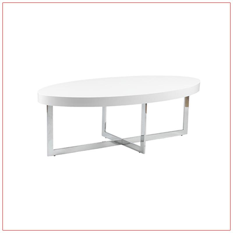 Oliver Cocktail Tables - White - LV Exhibit Rentals in Las Vegas