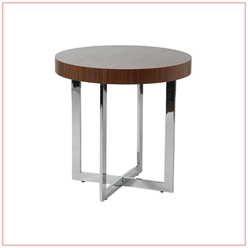 Oliver End Tables - Walnut - LV Exhibit Rentals in Las Vegas