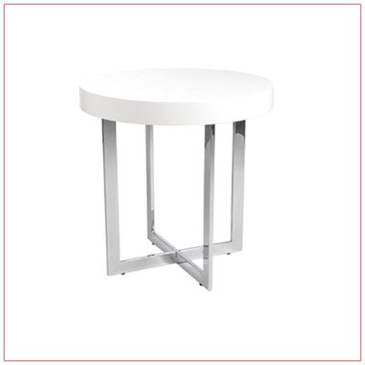 Oliver End Tables - White - LV Exhibit Rentals in Las Vegas