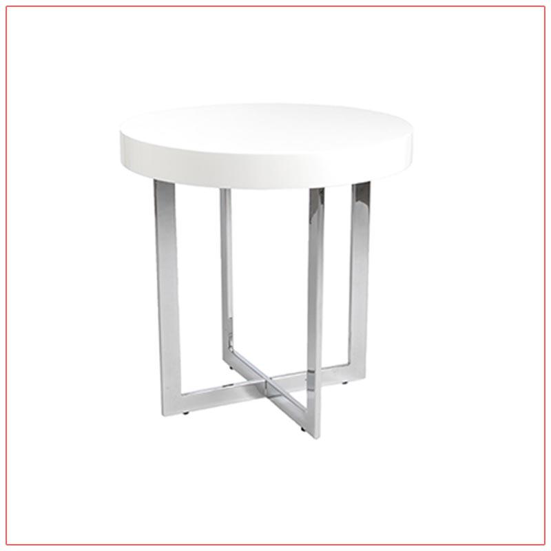 Oliver End Tables - White - LV Exhibit Rentals in Las Vegas