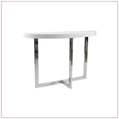 Oliver Sofa Tables - White - LV Exhibit Rentals in Las Vegas