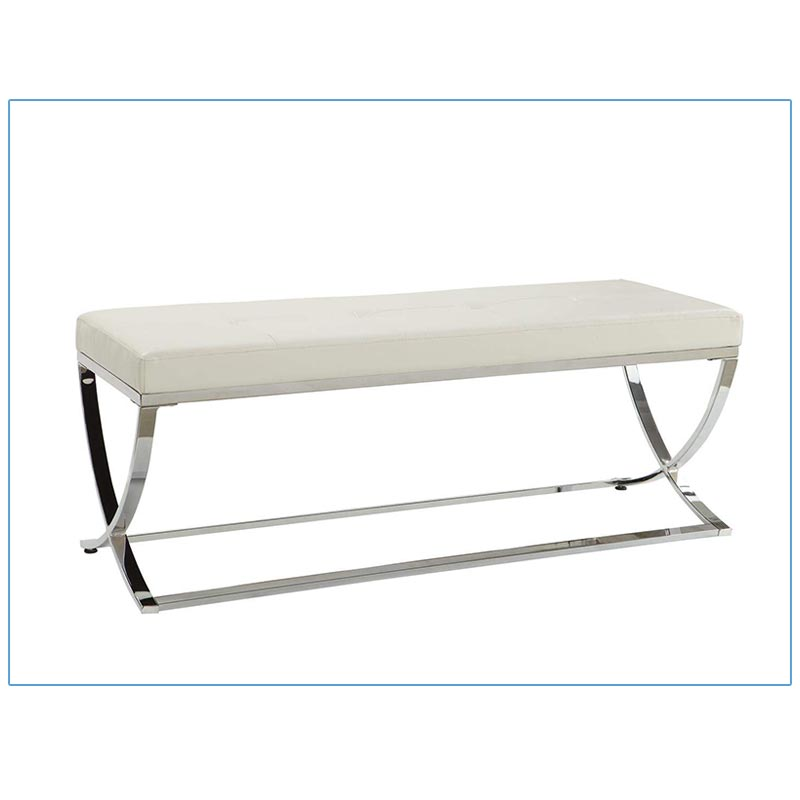 Padre Bench - White - LV Exhibit Rentals in Las Vegas