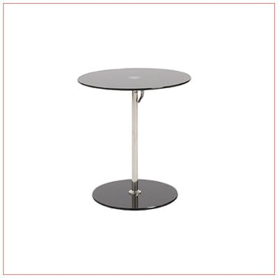 Radin Adjustable End Tables - Black - LV Exhibit Rentals in Las Vegas