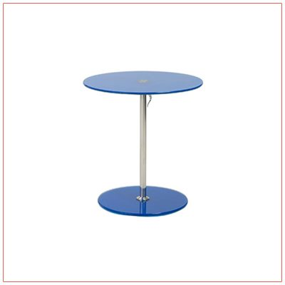 Radin Adjustable End Tables - Blue - LV Exhibit Rentals in Las Vegas