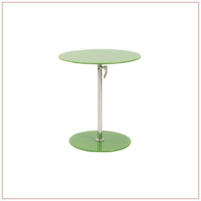 Radin Adjustable End Tables - Green - LV Exhibit Rentals in Las Vegas