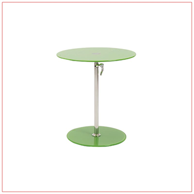 Radin Adjustable End Tables - Green - LV Exhibit Rentals in Las Vegas