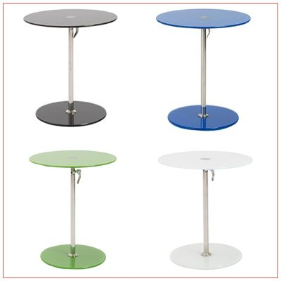Radin Adjustable End Tables - LV Exhibit Rentals in Las Vegas