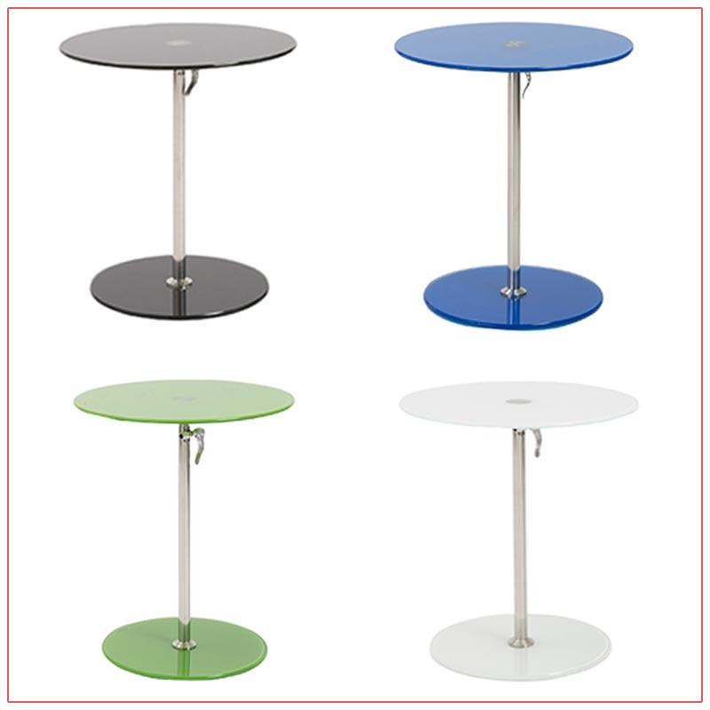 Radin Adjustable End Tables - LV Exhibit Rentals in Las Vegas