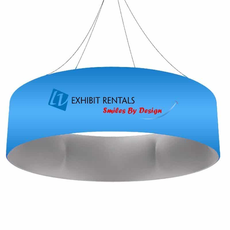 Round Hanging Sign - 15ft Round by 4ft Height - LV Exhibit Rentals in Las Vegas