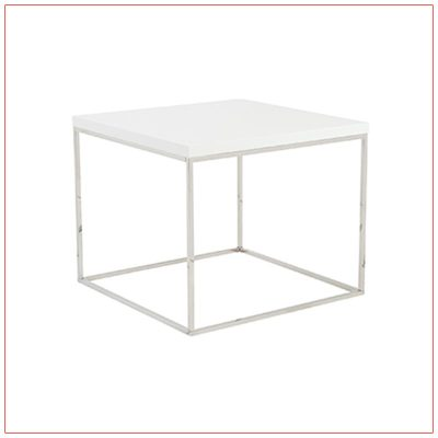 Teresa End Tables - White - LV Exhibit Rentals in Las Vegas