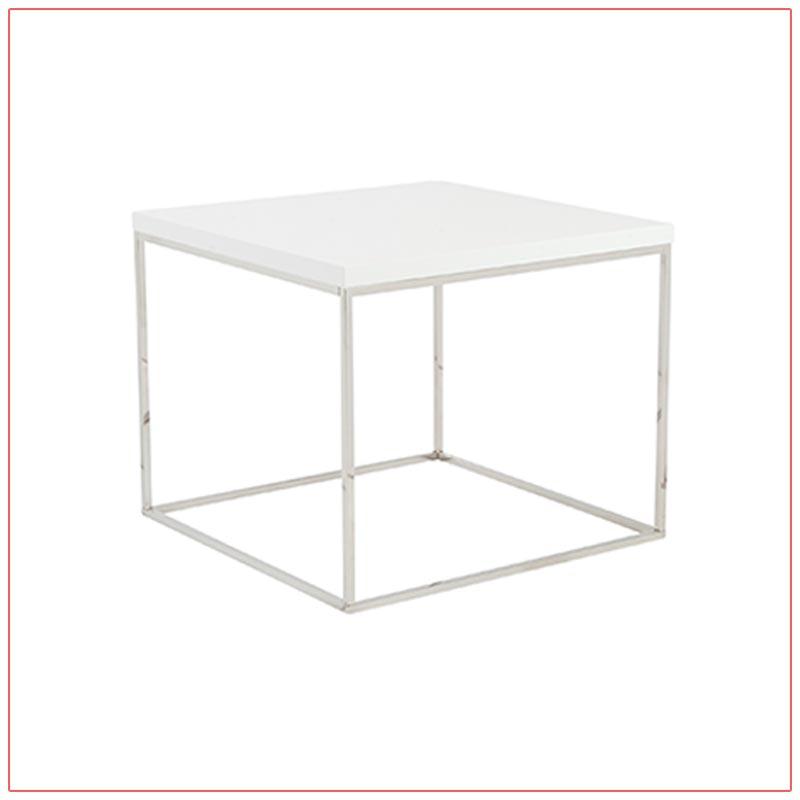Teresa End Tables - White - LV Exhibit Rentals in Las Vegas