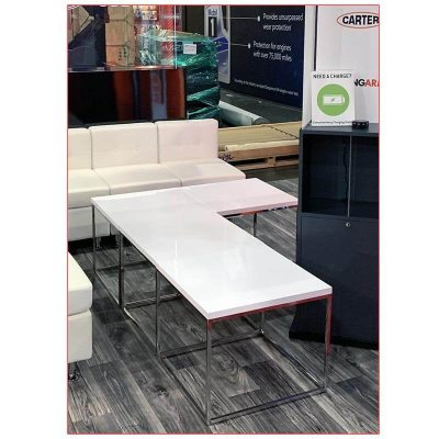 Teresa End Tables in White - LV Exhibit Rentals in Las Vegas