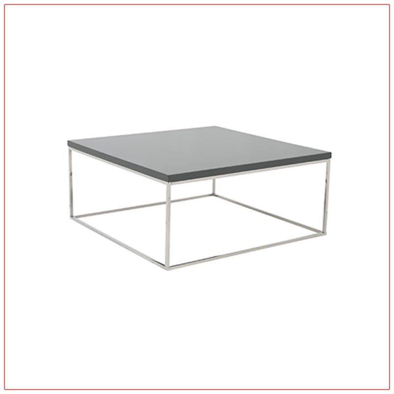 Teresa Square Cocktail Tables - Gray - LV Exhibit Rentals in Las Vegas