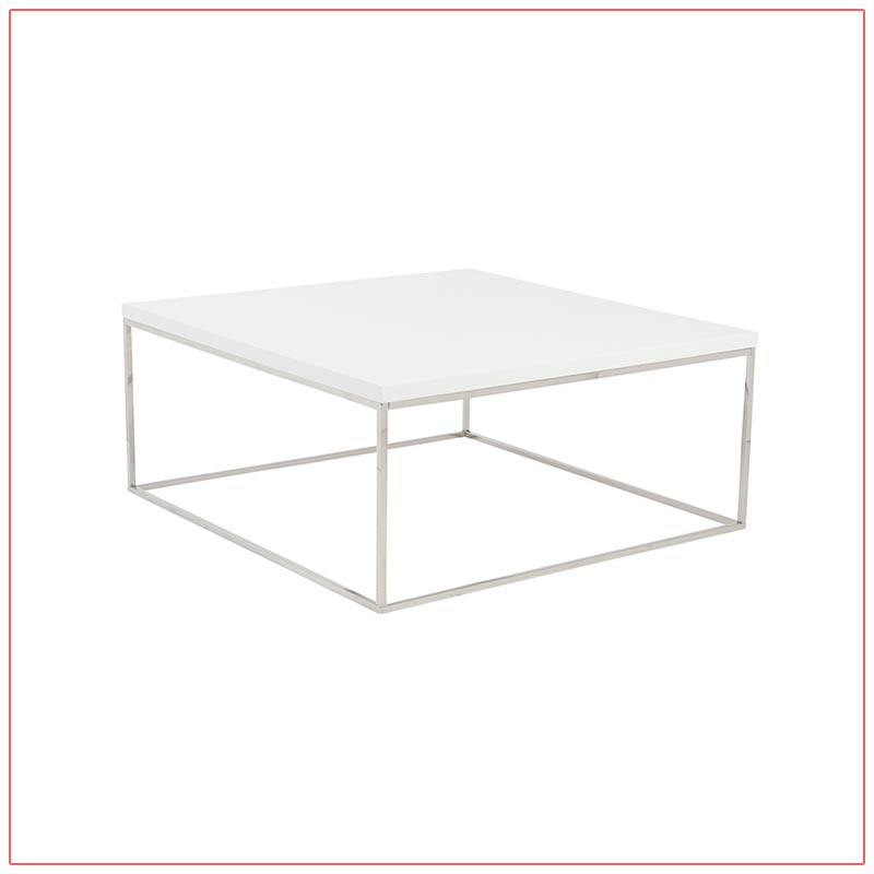 Teresa Square Cocktail Tables - White - LV Exhibit Rentals in Las Vegas