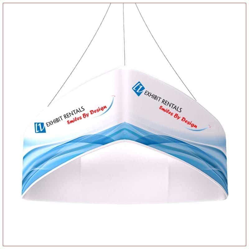 Triangle Curved Hanging Sign - LV Exhibit Rentals in Las Vegas