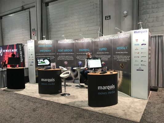 10x20 Trade Show Booth Rental Package 200 - Front - Marquis Broadcast - LV Exhibit Rentals in Las Vegas