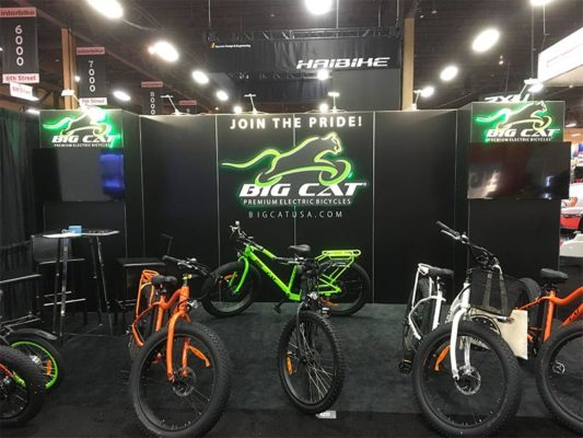 10x20 Trade Show Booth Rental Package 201 - Big Cat - LV Exhibit Rentals in Las Vegas