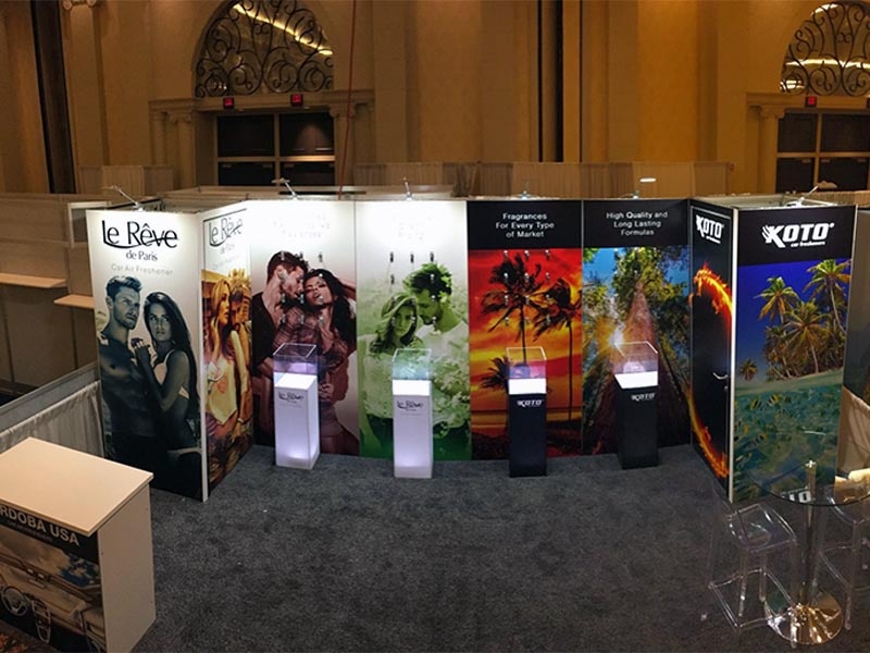 10x20 Trade Show Booth Rental Package 201 - Le Reve - LV Exhibit Rentals in Las Vegas