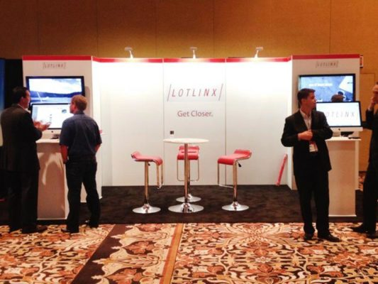 10x20 Trade Show Booth Rental Package 201 Variation - Lotlinx - LV Exhibit Rentals in Las Vegas