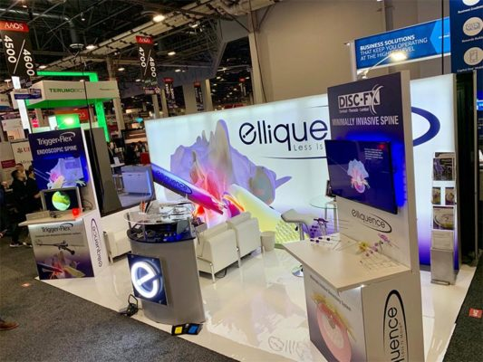 10x20 Trade Show Booth Rental Package 202 -Elliquence - LV Exhibit Rentals in Las Vegas