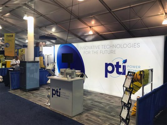 10x20 Trade Show Booth Rental Package 202 -Power Technology Industries - LV Exhibit Rentals in Las Vegas