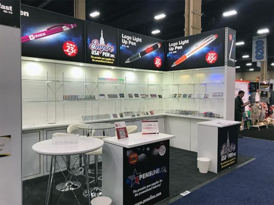 10x20 Trade Show Booth Rental Package 207 -Empire USA Pen - LV Exhibit Rentals in Las Vegas