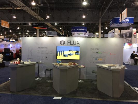 10x20 Trade Show Booth Rental Package 208 - Custom - Flux - LV Exhibit Rentals in Las Vegas