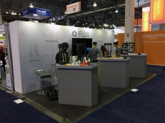 10x20 Trade Show Booth Rental Package 208 - Flux - LV Exhibit Rentals in Las Vegas